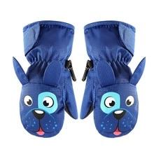 Детские лыжные перчатки теплые бархатные штаны для детей Зимние варежки зимняя обувь на нескользящей подошве для маленьких мальчиков и девочек варежки Водонепроницаемый Детские перчатки для От 1 до 8 лет