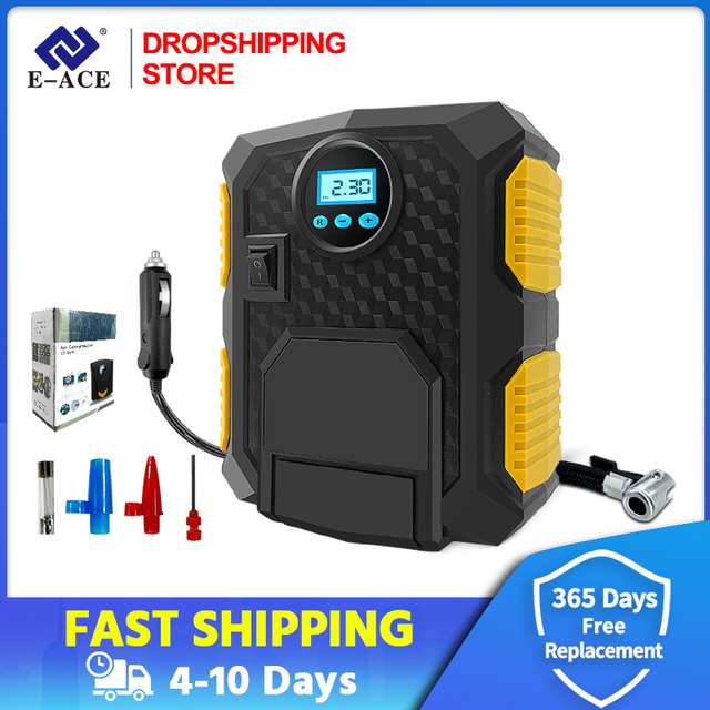 Dropshipping cyfrowe sprężarki powietrza przenośne elektryczne pompy powietrza samochodu czarny DC 12V opon Inflador 150 PSI Autocompressor
