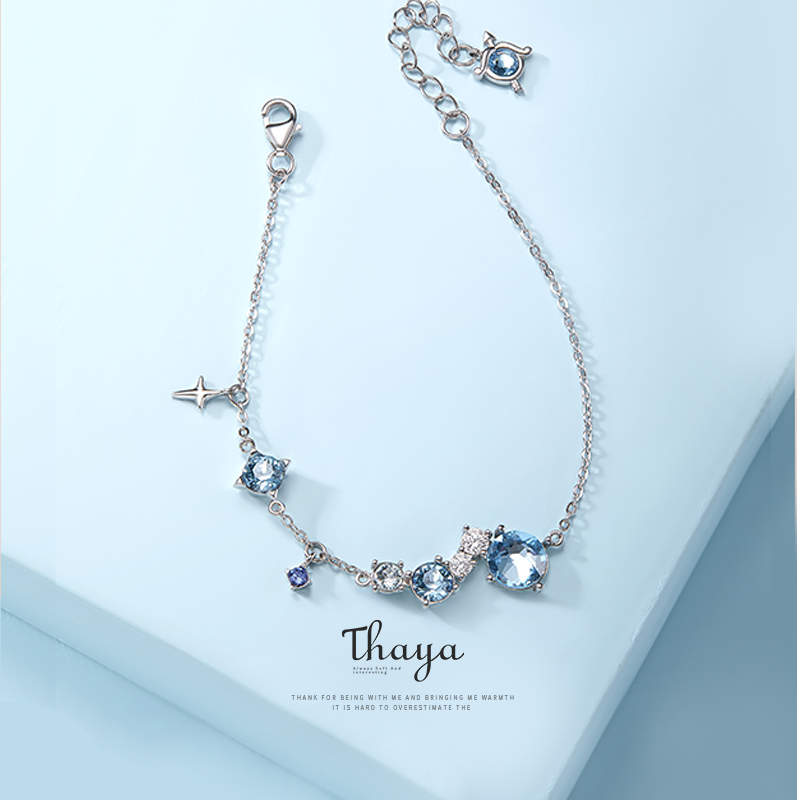 Thaya 925 Silver Jewelry Bracelets High Quality Twelve Constellations Nebula Bracelets For Girls Elegant Special Jewelry