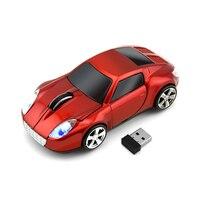CHYI Car Shape Wireless Computer Mouse USB Optical 3D Mini With LED Light PC Mause 1600 DPI Mice For Kids Gift Desktop Laptop