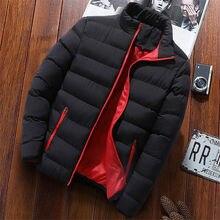 Мужская мода, осенне-зимняя куртка-парка со стоячим воротником, M-4XL, плюс размер, Мужская Толстая ветронепроницаемая куртка на молнии с карманами