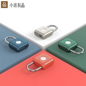 Image 1 - Xiaomi Uodi Smart Fingerprint Padlock Kitty USB Waterproof Electronic Fingerprint Lock Home Anti theft Luggage Case Safety