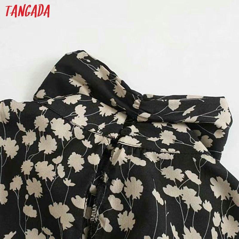 Женское винтажное платье Tangada, элегантное платье с цветочным принтом, длинным рукавом и галстуком-бабочкой, 5Z140