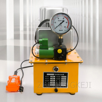 220V / 380V Electric Hydraulic Pump Portable 750W High Pressure Pump Hand Switch / Foot Switch With Shockproof Pressure Gauge 220v 380v electric hydraulic pump portable 750w high pressure pump hand switch foot switch with shockproof pressure gauge