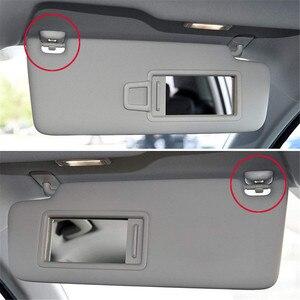 Image 5 - 2Pcs Interior Gray Sun Visor Clip Holder Hook Bracket Hanger For Audi A1 A3 A4 A5 Q3 Q5 S3 S4 S5 TT Allroad 8U0857562A Grey