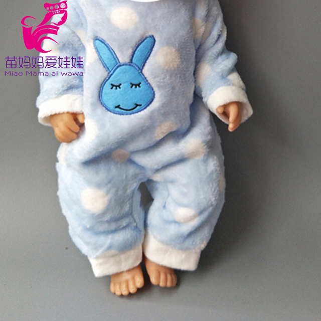 Dolls Rompers Fit 43cm  Baby Doll 18 Inch girl boy Doll pajama Clothes kids play toys 1
