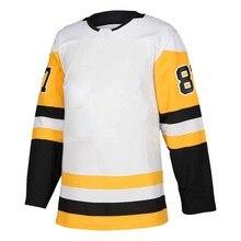 Mens Stitch America Hockey Jersey Pittsburgh Ice Fans Evgeni Malkin Sidney Crosby Kris Letang Matt Murray Mario Lemieux Jerseys