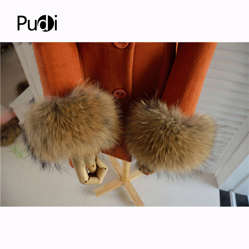 Real Genuine High Quality  Raccoon Dog  Fur Cuffs Cuff  Arm Warmers 4 Colors