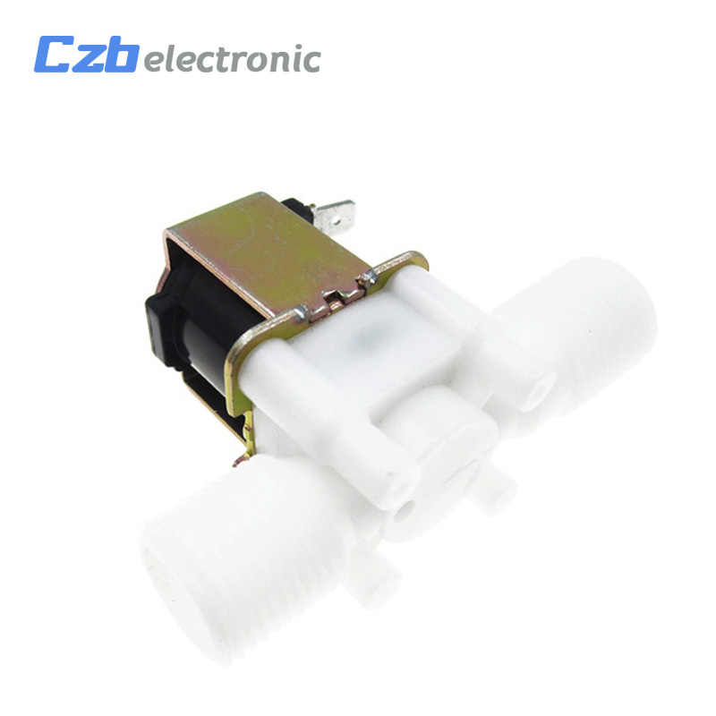"""電気ソレノイドバルブ磁気 DC 12V 水空気注入口フロースイッチ 1/2 """"12 V 24V 220V 磁気洗濯機ディスペンサー"""