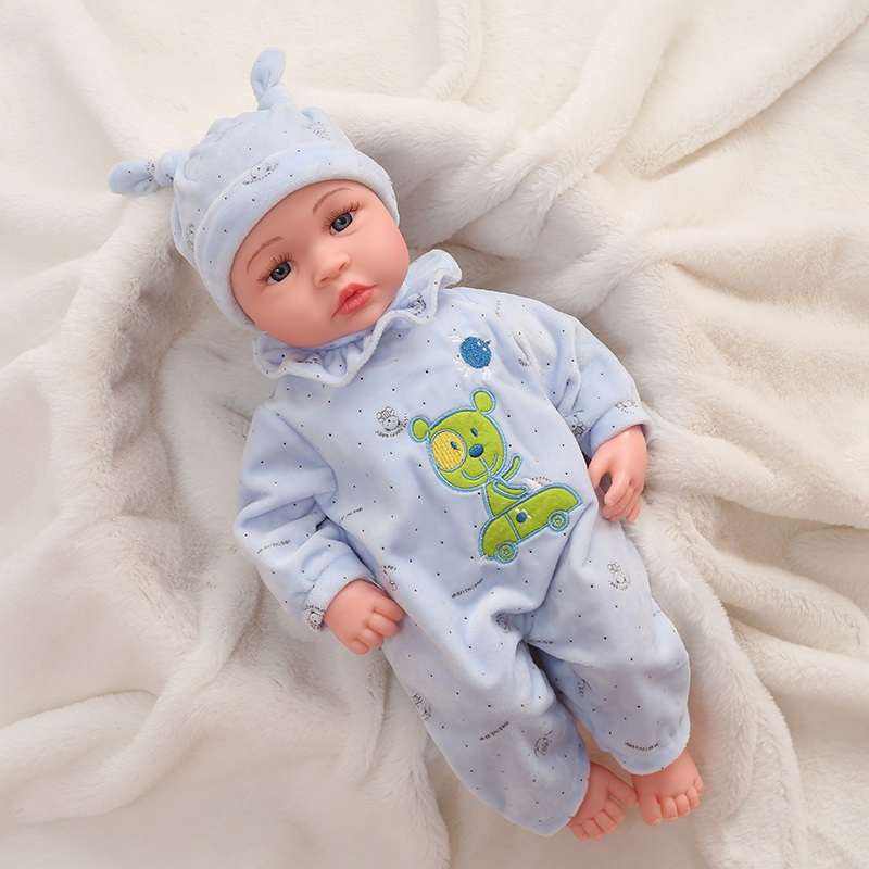 Bonecas de bebê com função itouch, bonecas de 45cm de silicone, bebê brinquedo de choro, boneca realista para crianças presente