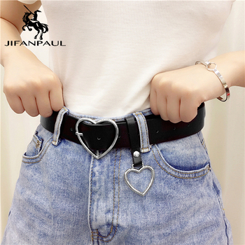 New sweetheart buckle with adjustable ladies luxury brand cute Heart-shaped thin high quality punk fashion belts