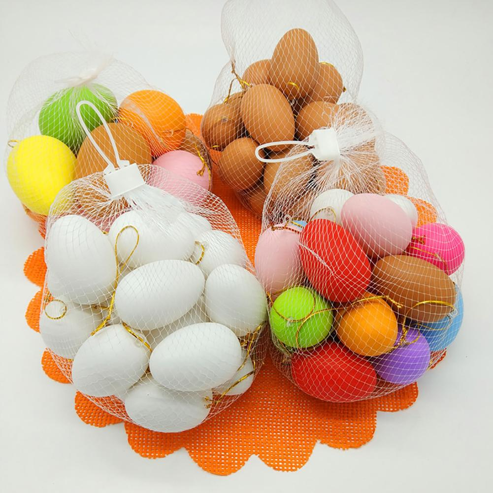 20Pcs Faux Egg DIY Painting Easter Decoration Handcraft Kids Toy Kindergarten New