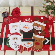 Holders Table-Decor Silverware-Knives Snowman Christmas Santa-Clause Dinner Elk-Fork