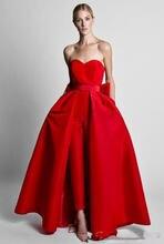 Красный комбинезон Официальные Вечерние платья со съемной юбкой