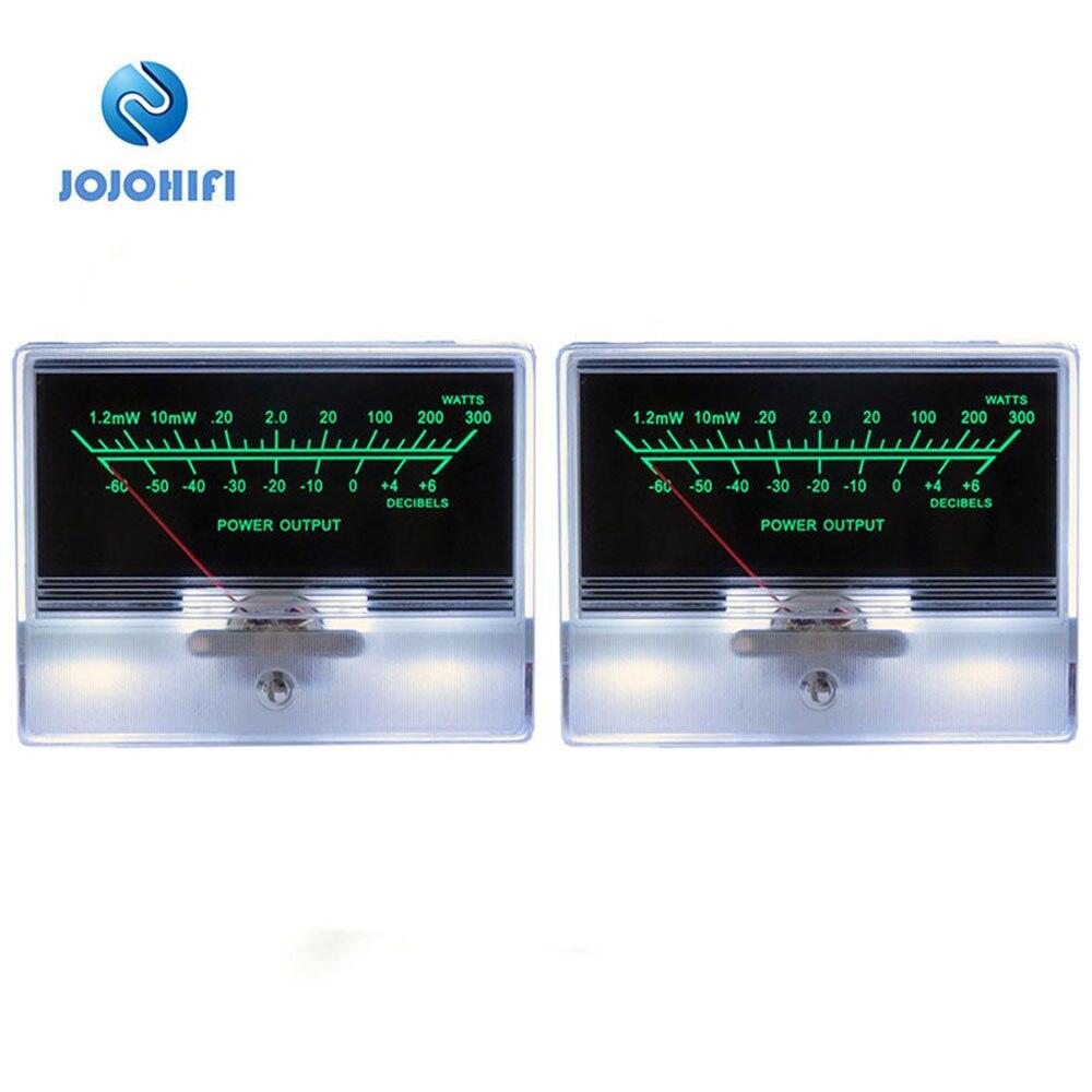 Ein Paar 2 stücke TN-90 Pointer VU Meter Kopf Tisch Pre-bühne Rohr Verstärker DB Sound Druck Mit Hintergrundbeleuchtung power Verstärker Bord