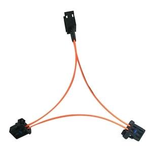 Image 4 - 3c para audi a6 a7 a8 q7 05 09 adaptador de amplificador de caixa de decodificador de fibra óptica do carro aux
