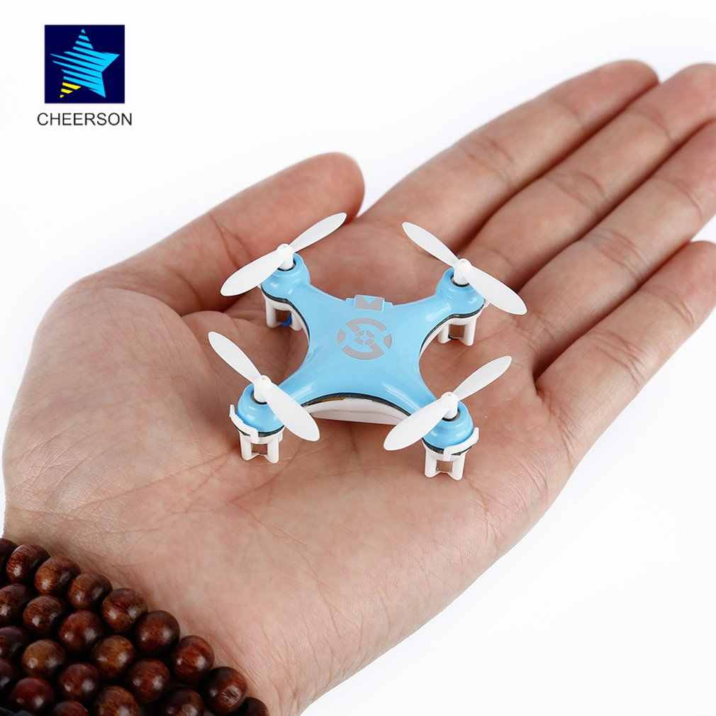 Cheerson CX-10 CX10 2.4G Afstandsbediening Speelgoed 4CH 6Axis Rc Quadcopter Mini Rc Helikopters Radio Control Vliegtuigen Rtf drone Blauw