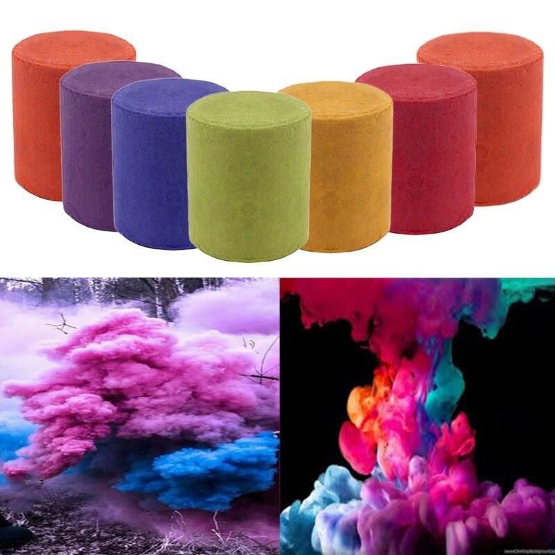 7 Colors Smoke Cake Smoke Effect Show White Round Bomb First Aid Tool