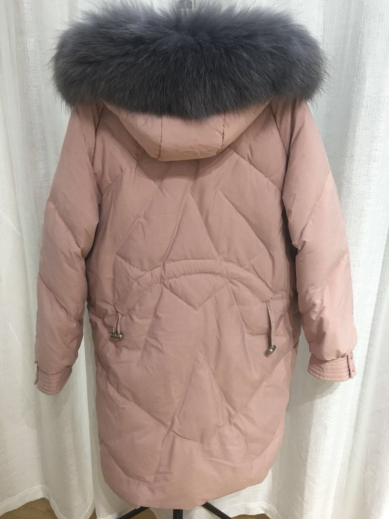 White Duck Down Jacket Women Big Fur Collar Winter Coat Women Down Coat Puffer Jacket Warm Park Vest Femme Y1464
