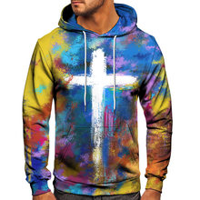 2020 Fashion Sweatshirt Men Women 3D Print Color Painting Cross Pattern Pullover Unisex Casual Creative Oversized Hoodies S-6XL