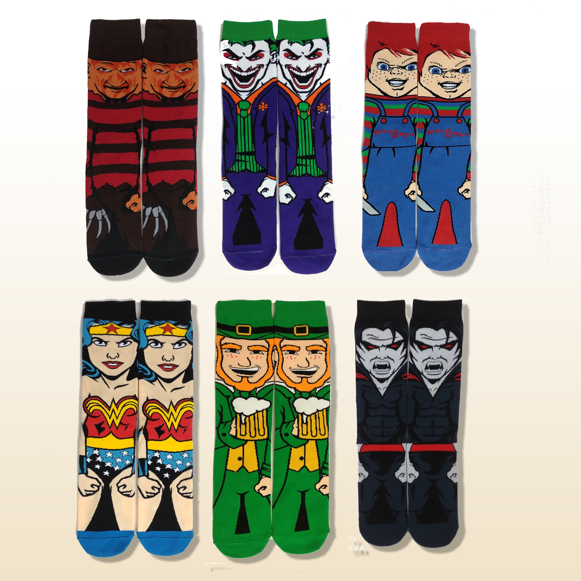 Cartoon Anime Horrible Movie Skateboard Socks Cotton Crazy Stocking Sock Personality Popular Summer Dress Socks носк