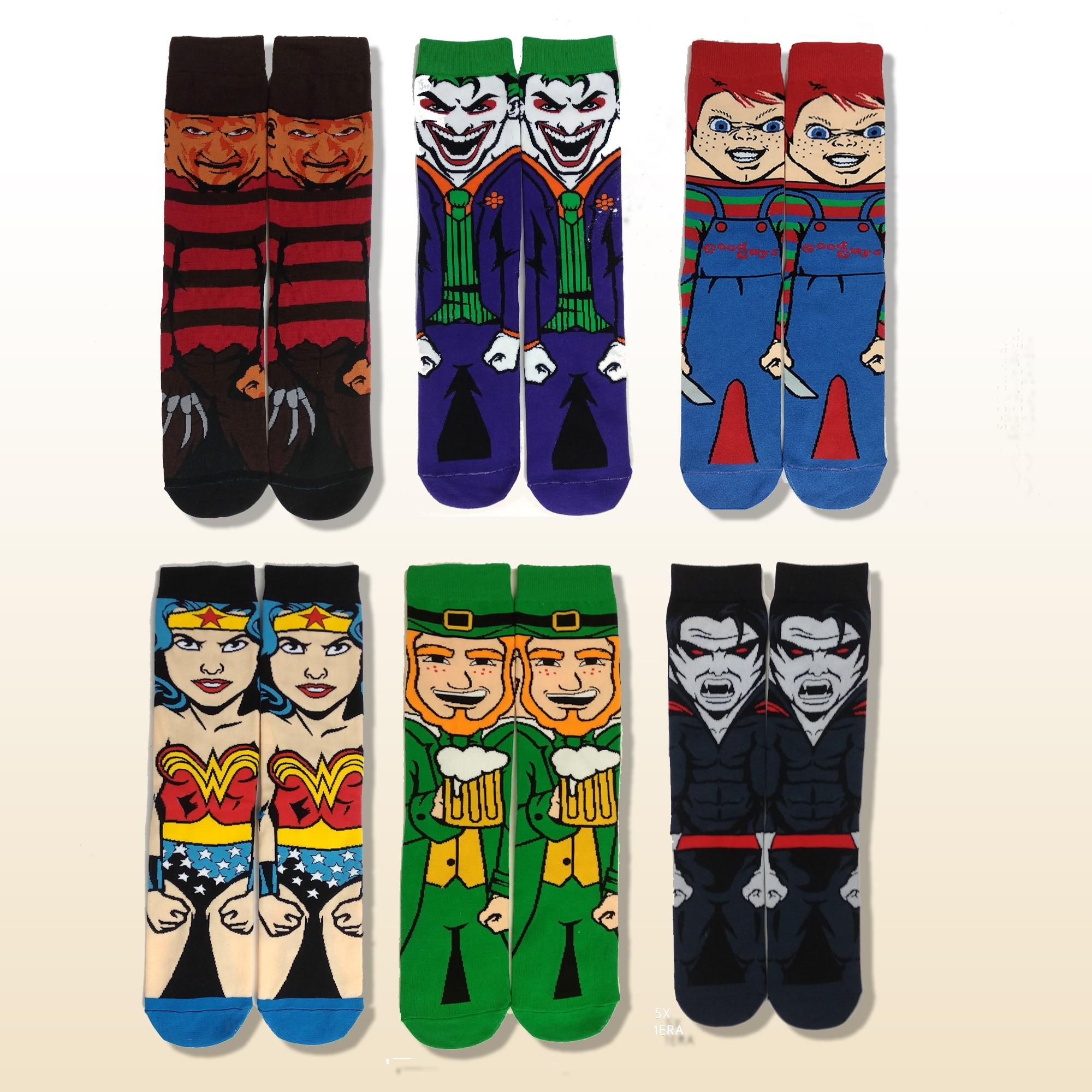Cartoon Anime Horrible Movie Skateboard Socks Cotton Crazy Stocking Sock Personality Popular Summer Dress Socks носк