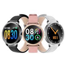 Reloj inteligente H7 PK H2 de mujer, reloj inteligente deportivo resistente al agua, IP67, control del ritmo cardíaco y Bluetooth para Android e IOS