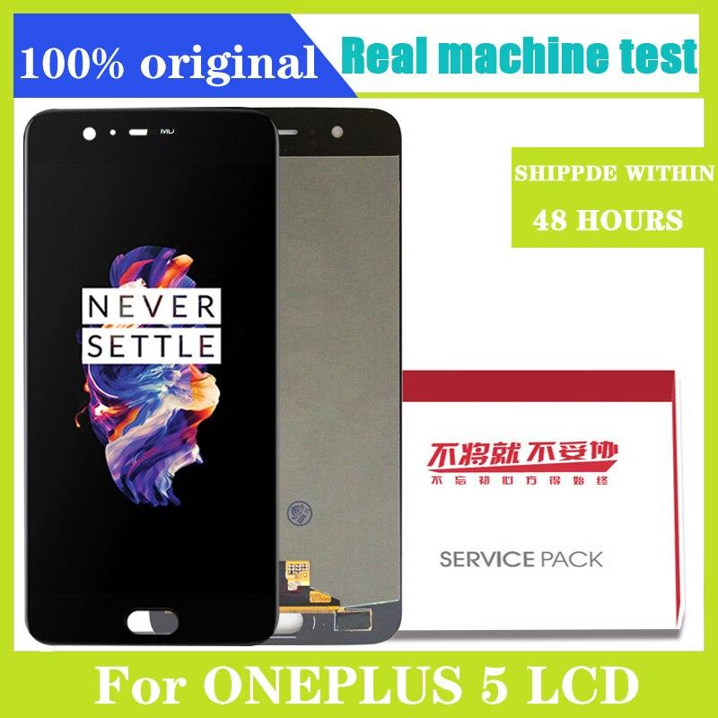Оригинальный ЖК-дисплей для Oneplus 5 Дисплей для Oneplus A5000 кодирующий преобразователь сенсорного экрана в сборе Замена 5,5 ''черный No/с рамкой