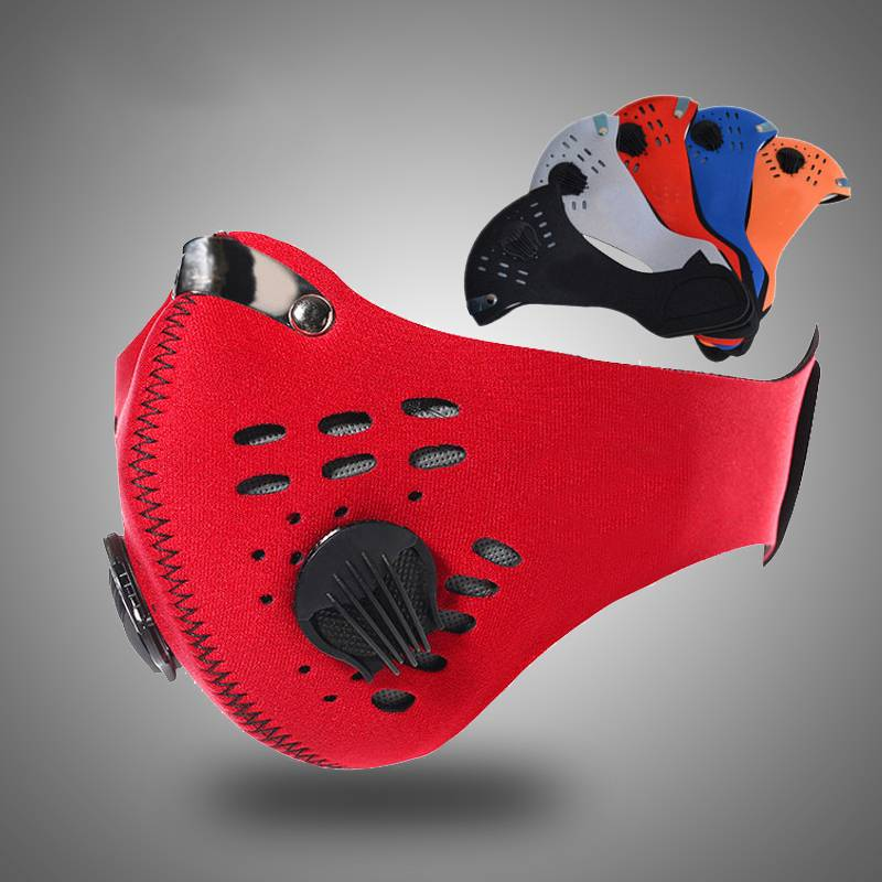 Anti Smog Sports Air Pollution Mask Washable Anti PM2.5 Odor Smoke Dust Face Motorcycle Biker Mask Protection Filter Respirator