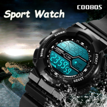 Trend Men's Sports Digital Watch Military Waterproof Mens