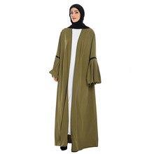 Открытое кимоно абайя Дубай ислам ic абайя платье длинные платья для мусульманских женщин пальто абайя Дубайский кафтан халат турецкий ислам