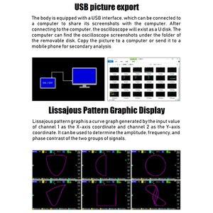 Image 5 - Ads1013d 2 canais 100mhz faixa largura 1gsa/s taxa de amostragem osciloscópio com 7 Polegada cores tft lcd tela de toque