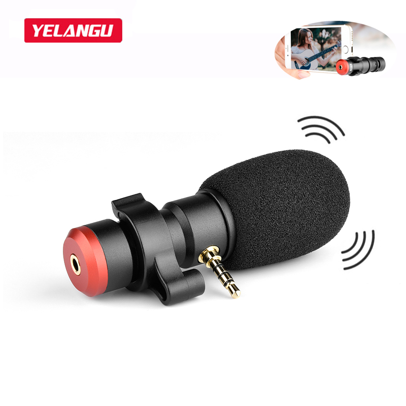 Micrófono estéreo profesional para grabación de vídeo en vivo, micrófono jack de 3,5mm para teléfonos iPhone, Huawei, Xiaomi y Samsung