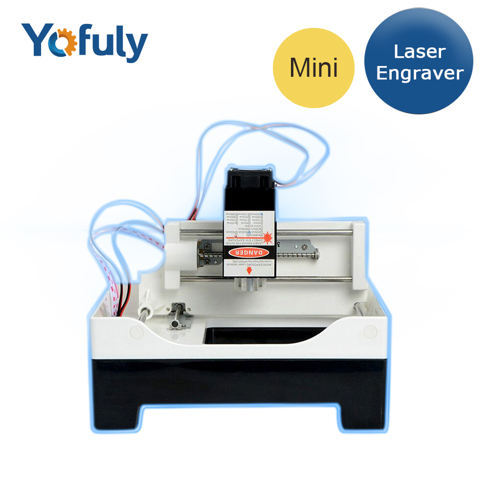 4000mw Mini Laser Machine  Working Area 70*70mm Engraving Machine DIY Print Cutter Laser Engraver High Speed With Goggle