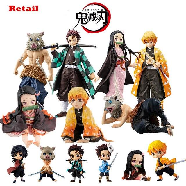 Фигурка Kimetsu no yaiba, фигурка nezuko tanjirou zenitsu, аниме фигурка рассекающего демонов, экшн фигурка из ПВХ, коллекционные модели, игрушки, подарки, 6,5 18 см