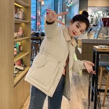 Womens Cotton Womens Short Thicken Korean Loose Cotton Coat Student Bread