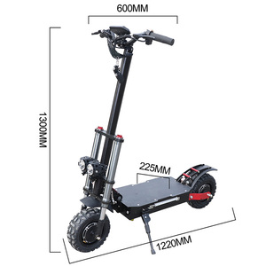 Image 2 - Powerful Electric Scooter 60V3200W 11inch Off Road Fat tire Dual Motor Wheel e scooter Foldable Adults Scooters Long Hoverboard