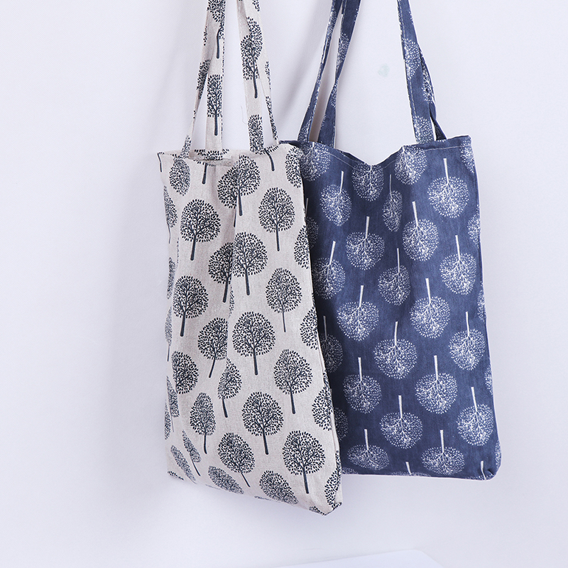 Floral Printed Casual Tote Large Capacity Female Handbags Single Shoulder Shopping Bags Daily Use Women Canvas Beach Bag