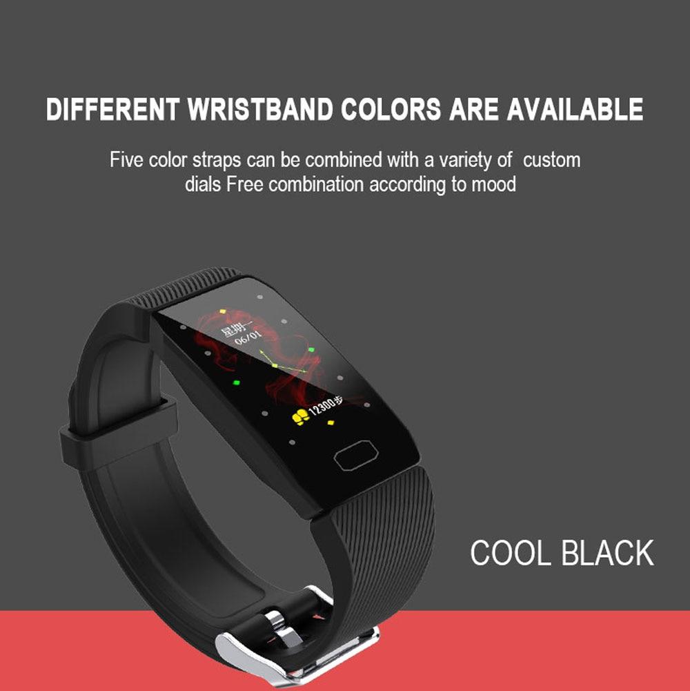 H3555cdfb4c264f18832ada35e64bb8adC Fitness Bracelet Blood Pressure 1.14'' Screen Fitness Tracker Smart Watch Waterproof Smart Wristband Weather Display Women Men