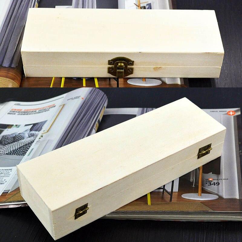 صندوق خشب مُشكَّل بحرفية يدوية تغليف الهدايا 1 قطعة حافظة مجوهرات عتيقة متعددة الوظائف صناديق تخزين منزلية مربعة الشكل مستطيل