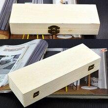 Caja de madera para manualidades hecha a mano, embalaje de regalo, 1 Uds., joyero Vintage, cajas de almacenamiento multifunción para el hogar, rectángulo cuadrado redondo