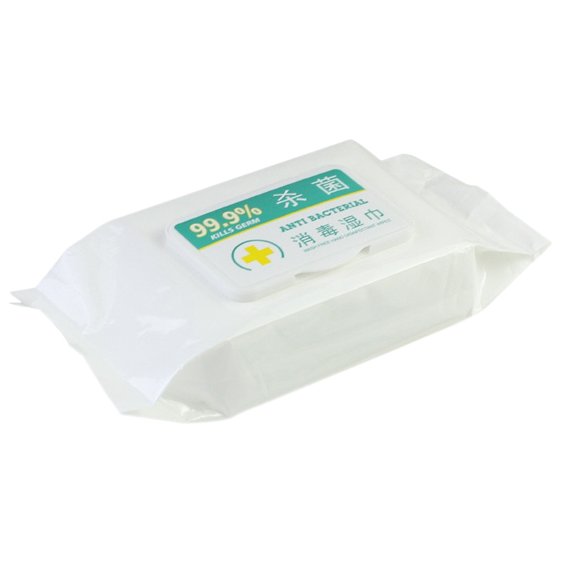 80Pcs 75% Alcohol Wipes Disinfection Pads Flip-Top Skin Cleaning Wet Wipes Portable