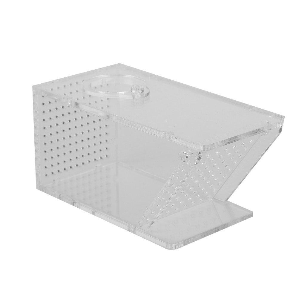 Acrylic Clear Aquarium Shrimps Crabs Trap Box One-way Valve Fish Tank