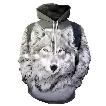 2020 New Hoodies For Men And Women 3d Printing Ferocious Wolf Head Sweatshirt Kids Fashion Hip Hop Casual Coat 2