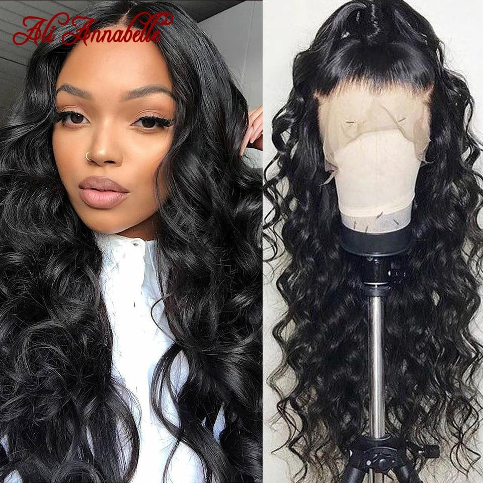 Perruques Lace Front wig 360 péruviennes-Ali Annabelle Hair, perruques Lace Front wig, cheveux naturels Loose Deep Wave, pre-plucked, pour femmes