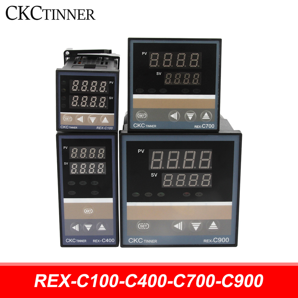 <font><b>PID</b></font> RKC Digital intelligent Industrial temperature controller 220V RELAY <font><b>REX</b></font>-C100-C400-C700-<font><b>C900</b></font> Thermostat SSR Relay output image