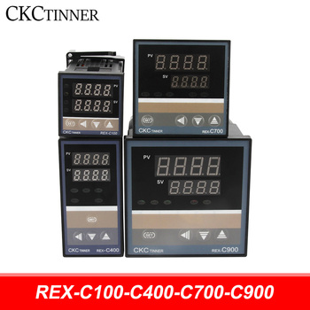 цена на PID RKC Digital intelligent Industrial temperature controller 220V RELAY REX-C100-C400-C700-C900 Thermostat SSR Relay output