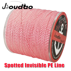 Jioudao Invisible PE Braided Fishing Wire 8Strands 300m Spotted Fishing Line Red Spot Multifilament Carp Fishing Line