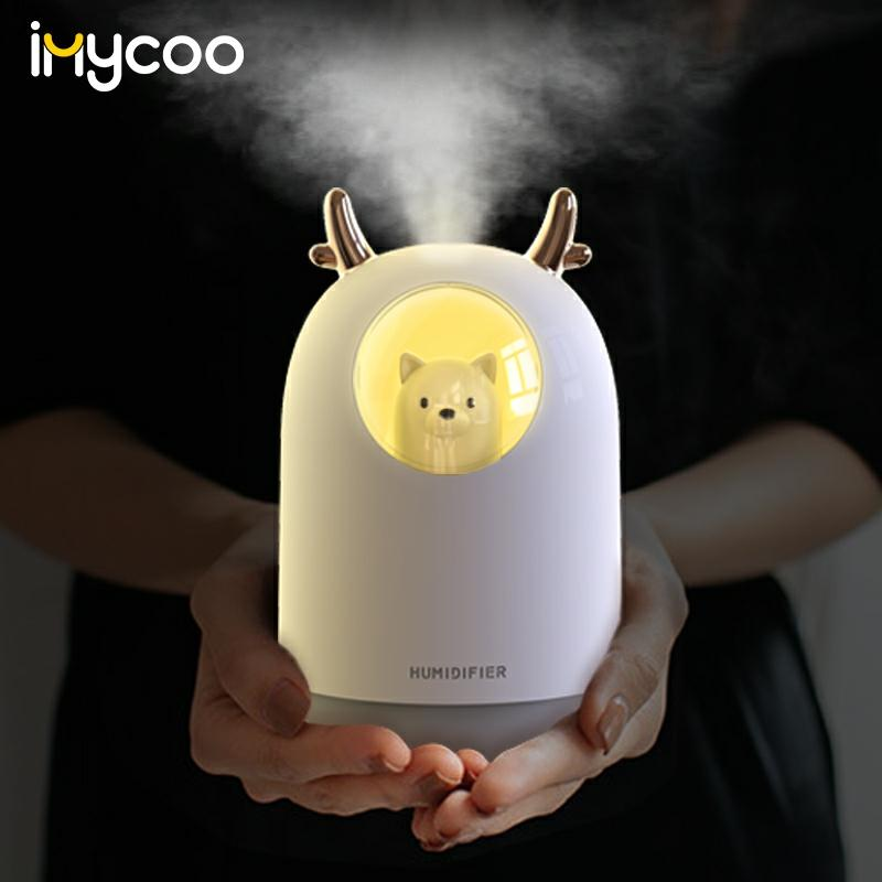 300ML Pet Ultrasonic USB Air Humidifier Aroma Essential Oil Diffuser Cool Mist Maker Fogger With Color LED Lamp Humidificador
