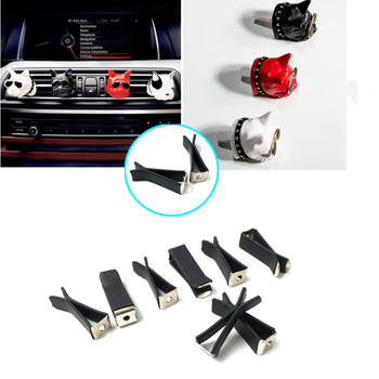 10Pcs Car Air Conditioner Outlet Perfume Clip Heating Cooling Device Square Plastic Card Slot Vents Clip Auto Adorn Accessories car clock ornaments auto watch air vents outlet clip mini decoration automotive dashboard time display clock in car accessories